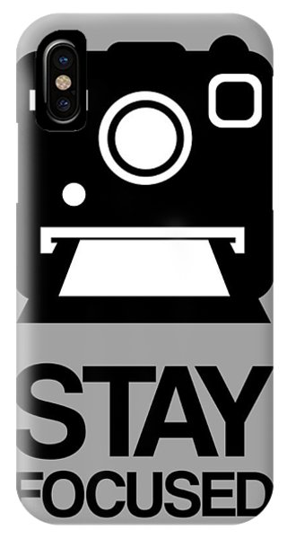 Camera iPhone Case - Stay Focused Polaroid Camera Poster 1 by Naxart Studio