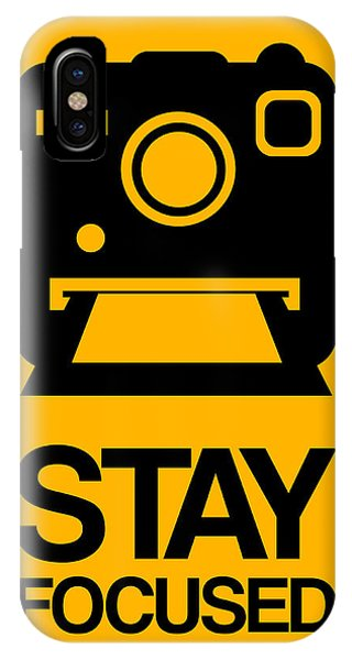 Camera iPhone Case - Stay Focused Polaroid Camera Poster 2 by Naxart Studio