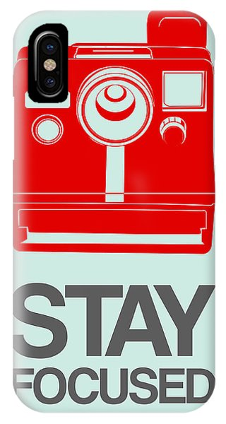 Camera iPhone Case - Stay Focused Polaroid Camera Poster 4 by Naxart Studio