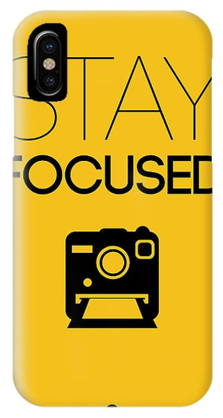 Camera iPhone Case - Stay Focused Poster 2 by Naxart Studio