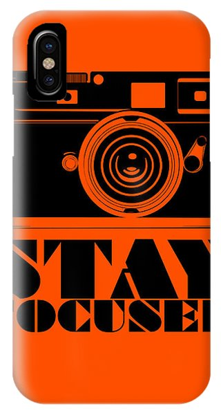 Humor iPhone Case - Stay Focused Poster by Naxart Studio