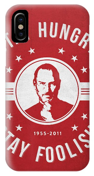 Stay Hungry Stay Foolish - Red IPhone Case
