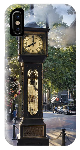 Steam Clock At Gastown Vancouver In The Morning IPhone Case