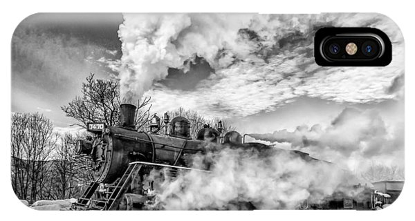 Steam In The Snow Black And White Version IPhone Case