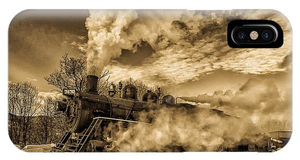 Steam In The Snow IPhone Case