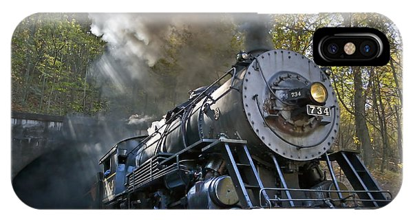 Steam Locomotive Train On The Western Maryland Scenic Railroad IPhone Case