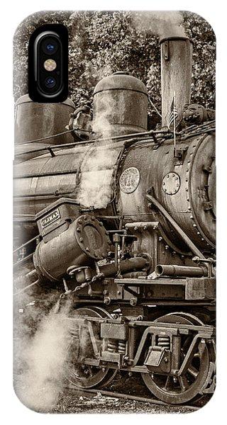 Steve Harrington iPhone Case - Steam Power Sepia by Steve Harrington