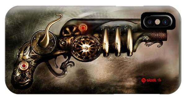 Steam Punk Pistol Mk II IPhone Case
