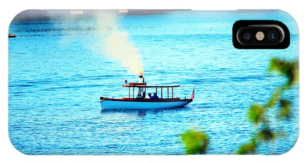 Steamboat On St. Lawrence River Phone Case by Timothy Thornton