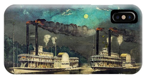 Steamboat Racing On The Mississippi IPhone Case