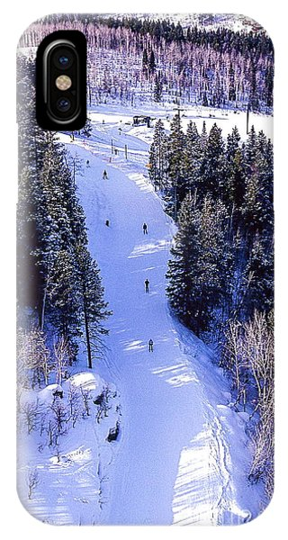 Steamboat Springs Colorado Ski Trail. IPhone Case
