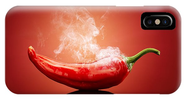 Backgrounds iPhone Case - Steaming Hot Chilli by Johan Swanepoel