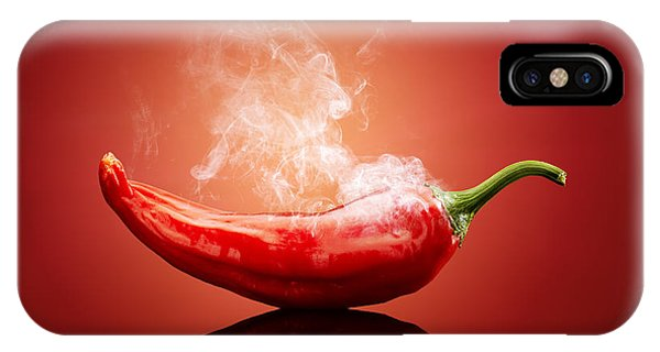 Background iPhone Case - Steaming Hot Chilli by Johan Swanepoel