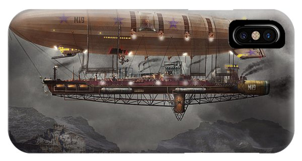Steampunk - Blimp - Airship Maximus  IPhone Case