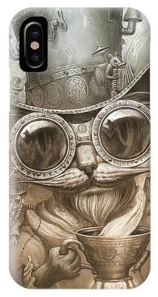 Kitten iPhone Case - Steampunk Cat by Jeff Haynie