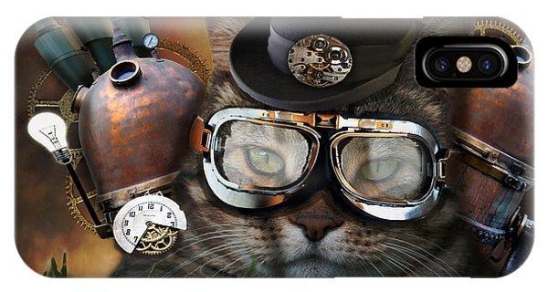 Steampunk Cat IPhone Case