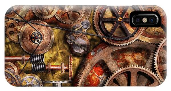 Abstract Digital iPhone Case - Steampunk - Gears - Inner Workings by Mike Savad