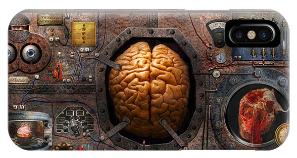 Neurology iPhone Case - Steampunk - Information Overload by Mike Savad