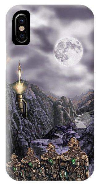 Steampunk Moon Invasion IPhone Case