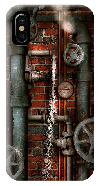 Steampunk - Plumbing - Pipes And Valves IPhone Case