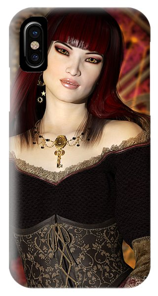 Steampunk Portrait IPhone Case