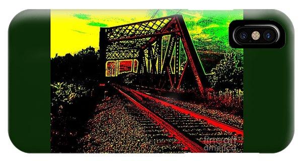 Steampunk Railroad Truss Bridge IPhone Case