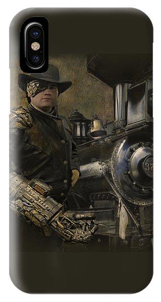 Steampunk - The Man 1 IPhone Case