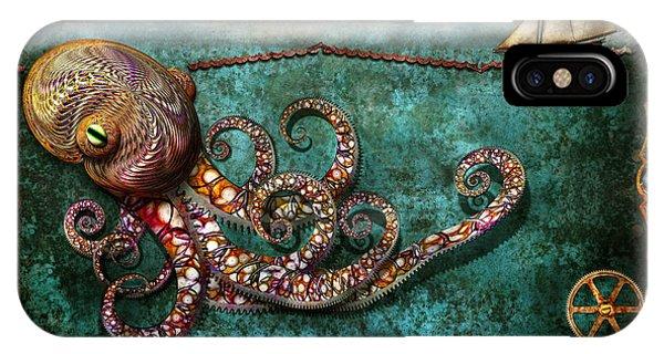 Steampunk - The Tale Of The Kraken IPhone Case