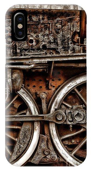 Steampunk- Wheels Locomotive IPhone Case