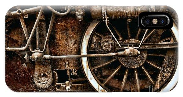 Steampunk- Wheels Of Vintage Steam Train IPhone Case