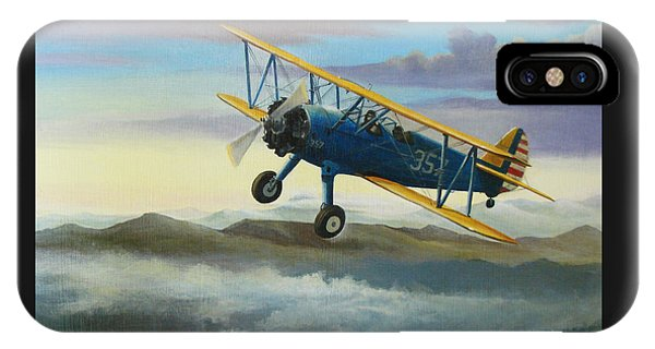 Airplane iPhone Case - Stearman Biplane by Stuart Swartz