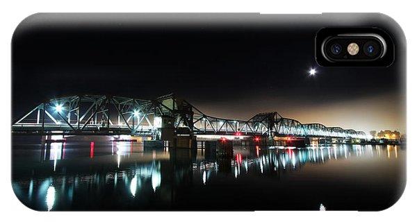 Steel Bridge Moon Phone Case by Ty Helbach