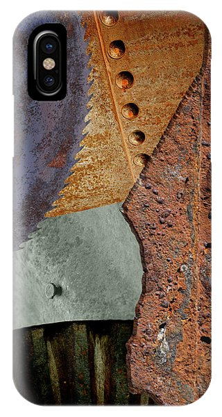 IPhone Case featuring the photograph Steel Collage by Fran Riley