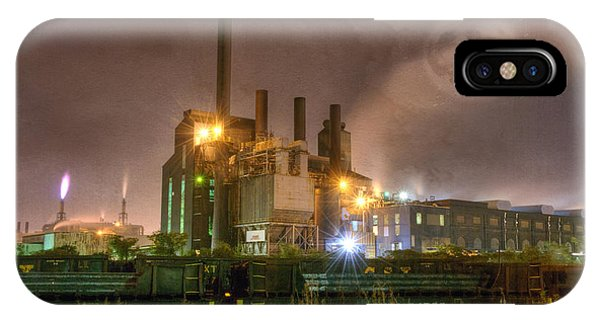 Steel Mill At Night IPhone Case