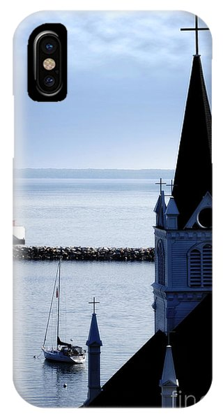 Steeple On Lake Huron IPhone Case
