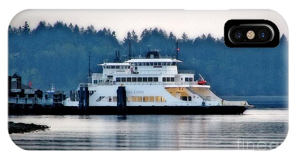 Steilacoom Ferry At Dusk IPhone Case