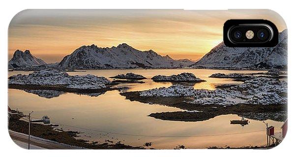 Steinefjord At Sunset, Lofoten IPhone Case