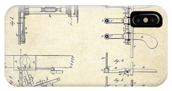 1885 Steinway Piano Pedal Patent Art IPhone Case