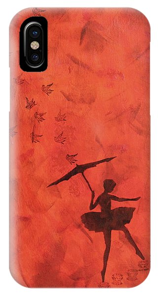 Stencil Ballerina IPhone Case