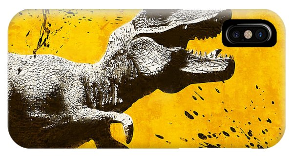 Dinosaur iPhone Case - Stencil Trex by Pixel Chimp