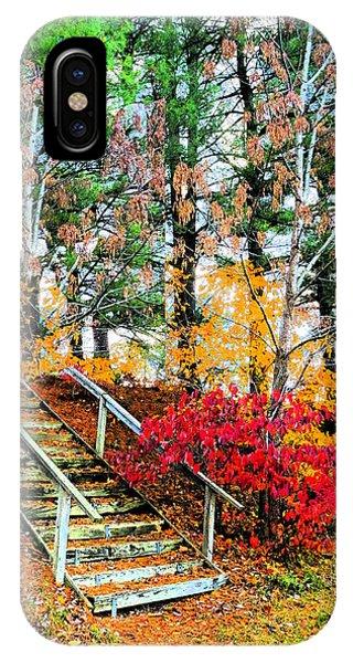 Step Into Autumn IPhone Case
