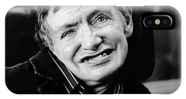 Stephen Hawking Phone Case by Lucinda Douglas-menzies