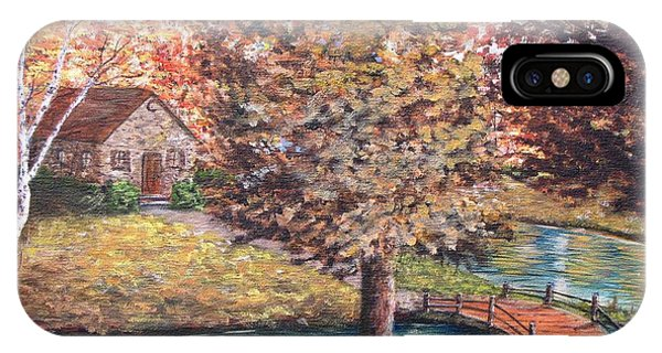 Stepping Into Autumn IPhone Case