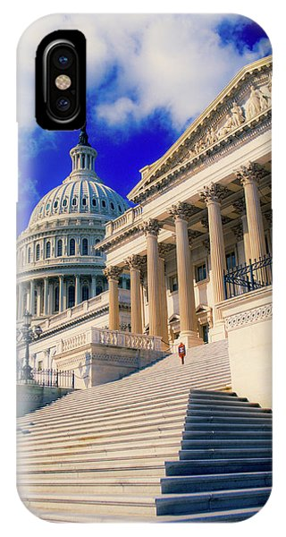Capitol Building iPhone Case - Steps To Senate Chambers At Us Capitol by Panoramic Images