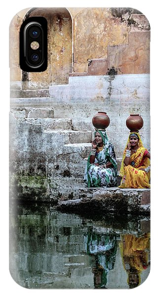 Fort iPhone Case - Stepwell Reflections by Susan Moss