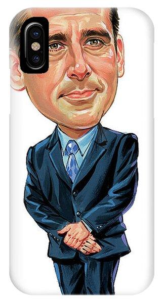 Steve Carrell As Michael Scott Phone Case by Art