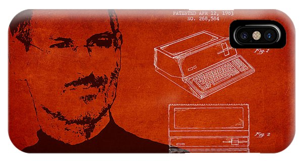 Steve Jobs Personal Computer Patent - Red IPhone Case