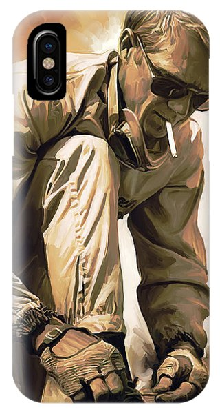 Celebrity iPhone Case - Steve Mcqueen Artwork by Sheraz A