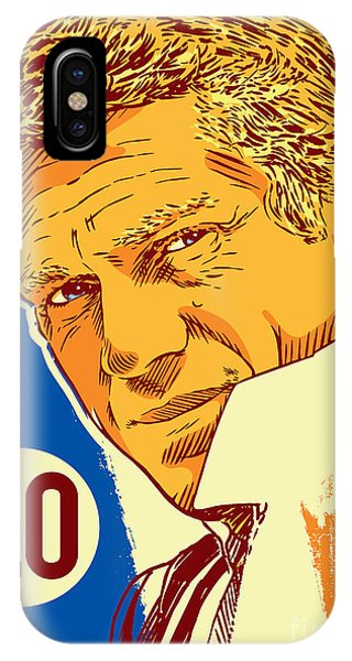 Cool iPhone Case - Steve Mcqueen Pop Art - 20 by Jim Zahniser