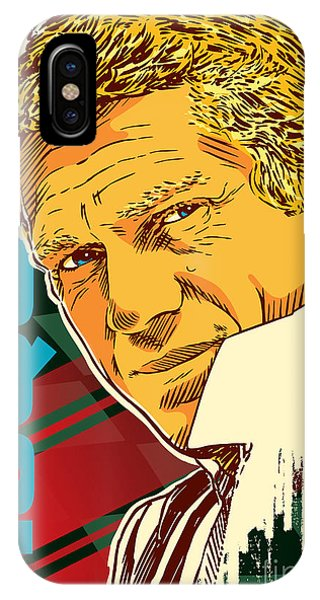 Cool iPhone Case - Steve Mcqueen Pop Art by Jim Zahniser